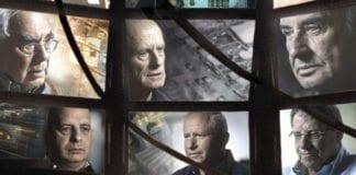 """Foto: Utsnitt fra den israelske dokumentarfilmen """"The Gatekeepers""""."""