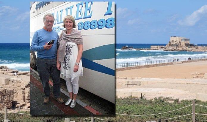 Hallgrim Berg (68) og Mette Follestad (44) er reiseledere på vårens MIFF-tur til Israel. Berg er sekretær i MIFF Hallingdal, og kjent som forfatter, foredragsholdere og tidligere stortingsrepresentant for Høyre. Follestad er medlem av MIFFs hovedstyre og sekretær i MIFF Drammen.