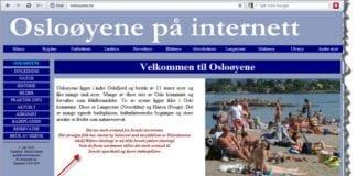 Skjermdump fra oslooyene.no 25. januar 2013.