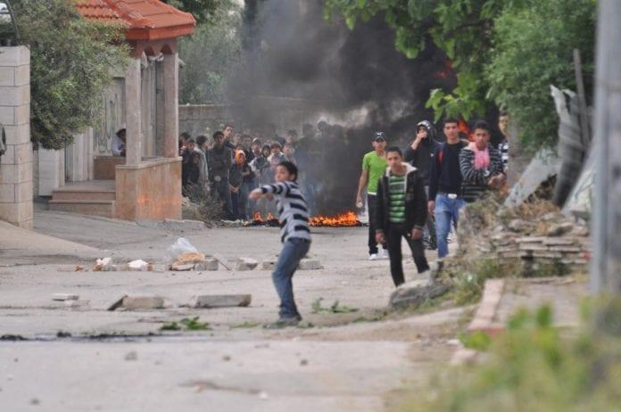 Palestinske demonstrasjoner nær El-Arrub i 2011. (Illustrasjon: IDF)