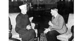 Mufti Haj Muhammad Amin Al-Husseini sammen med Adolf Hitler. (Foto: Heinrich Hoffmann, Das Bundesarchiv)
