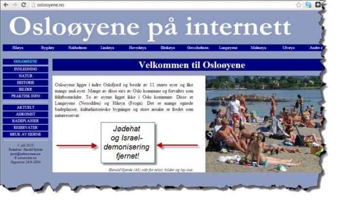 Skjermdump fra oslooyene.no 19. februar 2013.