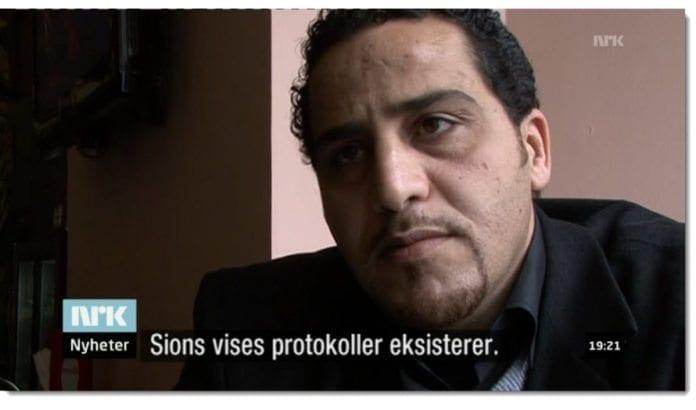 Det var ikke vanskelig for journalist Tormod Strand å finne palestinere som åpent erkjente tro på konspirasjonsteorier om jøder. (Skjermdump fra NRK Søndagsrevyen 10. februar 2013)