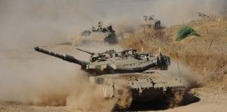 En israelsk militærøvelse på Golan-høyden. (Illustrasjon: IDF)