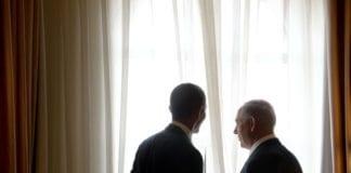 Barack Obama (f.v) lyktes delvis med sin sjarmoffensiv i Israel. Her fra det offisielle møtet med statsminister Benjamin Netanyahu (Foto: Avi Ohayun, GPO)