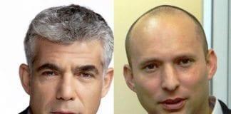 Yair Lapid (f.v.) og Naftali Bennett. (Foto: Montasje av to Wikipedia-bilder)