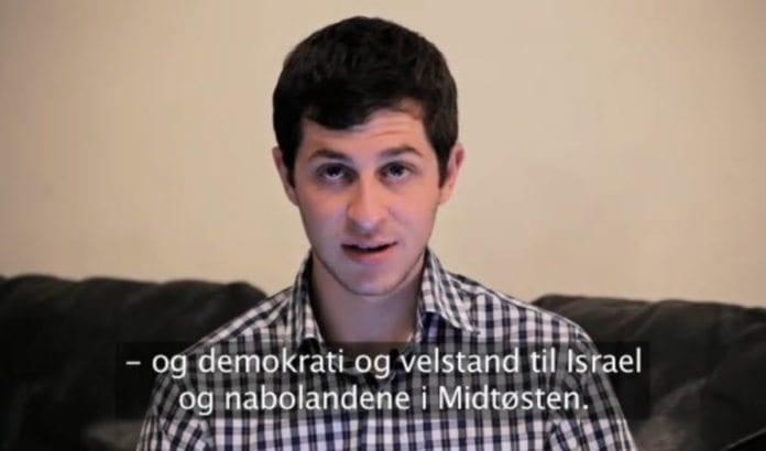 Gilad Shalit uttrykte på slutten av sin hilsen et ønske om fred for Israel og alle nabolandene i Midtøsten.