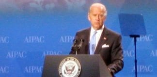 Visepresident Joe Biden talte på AIPAC-konferansen mandag. Dette bildet er tatt på samme konferanse i 2009. (Foto: Talk Radio News Service)