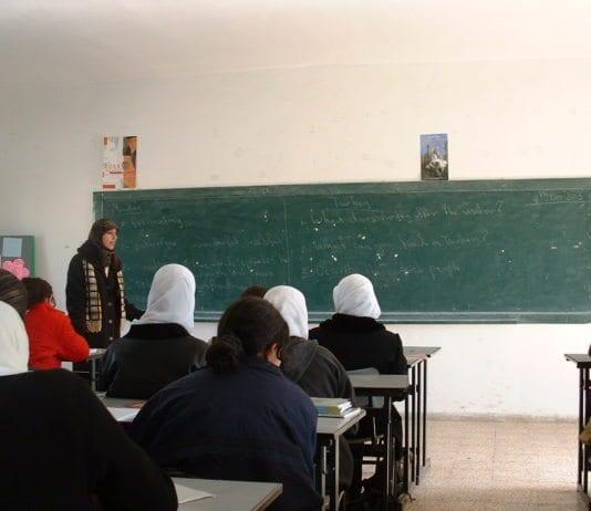Jenteklasse i Ramallah på Vestbredden. (Illustrasjon: D'Arcy Vallance, flickr.com)
