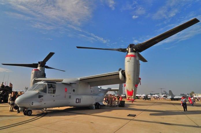 Amerikanske V-22 Osprey, det nye troppeforflytningsflyet som Israel er i ferd med å fullføre en bestilling av. (Foto: wehardy, flickr.com)