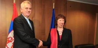 Serbias president Tomislav Nikolic (f.v.) og EUs utenriksminister Catherine Ashton. (Foto: EEAS)