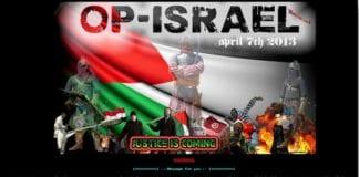 Foto: Skjermdump fra hjemmesiden til #OpIsrael.