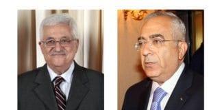 PAs president Mahmoud Abbas og PAs statsminister Salam Fayyad. (Foto: Wikimedia Commons)