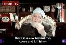Den egyptiske ministeren for religiøse saker, Talaat Afifi, drømmer om dagen da naturen skal hjelpe muslimer med å drepe jøder. (Skjermdump fra Sada Al-Balad, via Memri)