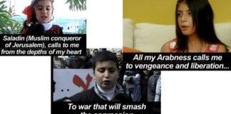 Barn leser dikt som hisser til krig mot zionistene på PA TV 29. januar, 1. februar og 1. mars. (Skjermdump fra PA TV, via PMW)