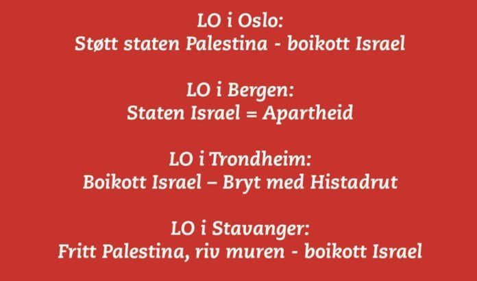 Paroler som angriper Israel i landets fire største byer 1. mai 2013.
