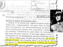 Faksmile av brevet som kronprins Olav skrev i 1944.