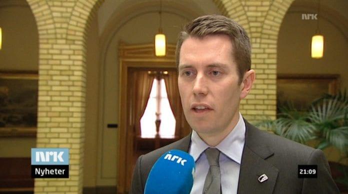 Stortingsrepresentant Peter S. Gitmark. (Skjermdump fra NRK Dagsrevyen 21)