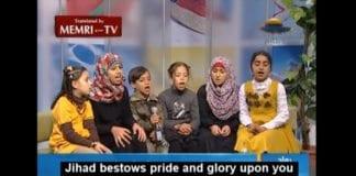 Umm Nidals barnebarn synger på Al-Aqsa TV 29. mars 2013. (Skjermdump via Memri)