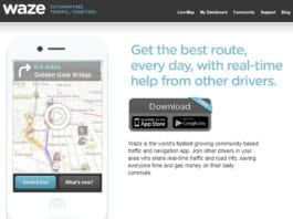 Den israelske mobilappen Waze. (Foto: Skjermdump fra Waze.com)