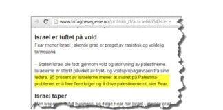 Skjermdump fra Frifagbevegelse.no 14. mai 2013.