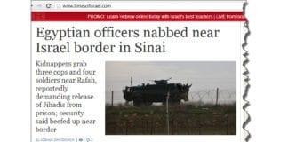 Skjermdump av toppsak på timesofisrael.com 16. mai 2013.