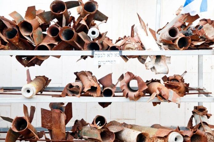 Rester av Kassam-raketter (Illustrasjon: Jordan Sangerman, flickr.com)