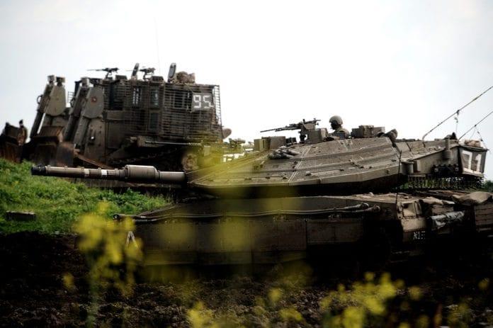 Israelske soldater og militærkjøretøy på Golan-høyden (Illustrasjon: IDF)