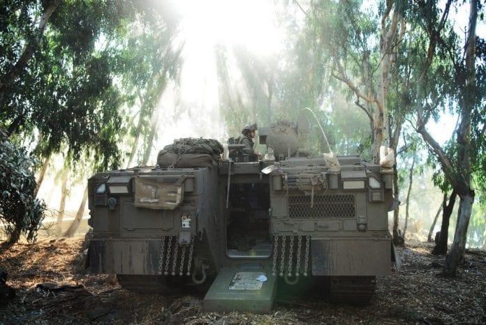IDF har gradvis trappet opp tilstedeværelsen på Golan-høydene, etter at borgerkrigen i Syria brøt ut. (Illustrasjon: IDF)