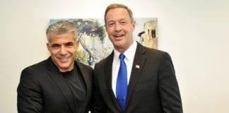 Finansminister Yair Lapid (f.v.) sammen med Maryland-guvernør Martin O'Malley (Demokratene). (Foto: Maryland GovPics, flickr.com)