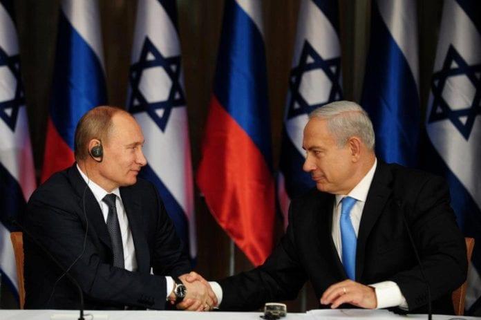 Israels statsminister Benjamin Netanyahu (f.h.) og Russlands president Vladimir Putin. (Foto: Benjamin Netanyahu - בנימין נתניהו, Facebook.com)