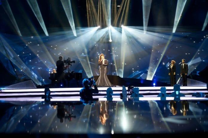 Israels Moran Mazor under den første sceneprøven i Malmö. (Foto: Sander Hesterman, EBU)