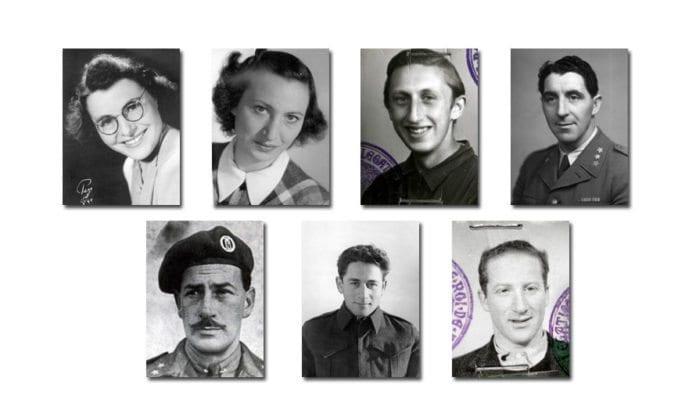 Syv norske jøder som deltok i motstandskampen mot nazistene under andre verdenkrig. (Foto: Jødisk Museum)