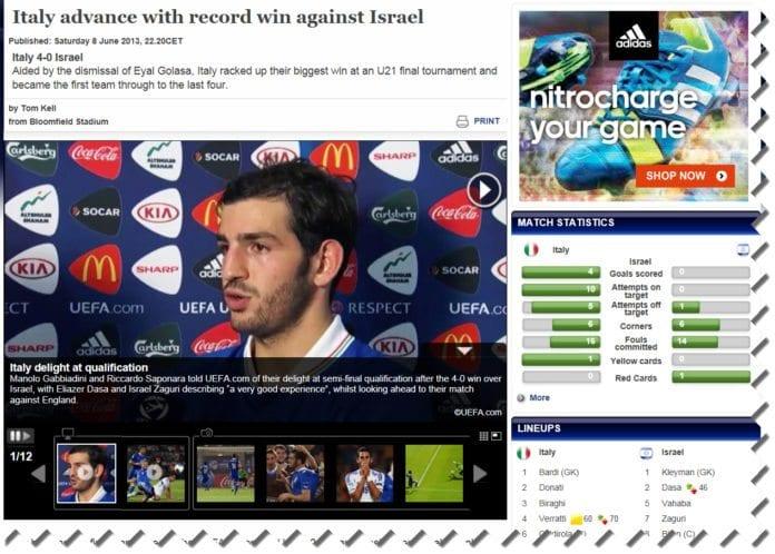 Foto: Skjermdump fra UEFA.com
