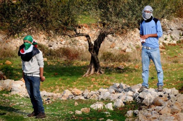 Opprør i Bil'in i 2011. (Illustrasjon: IDF)