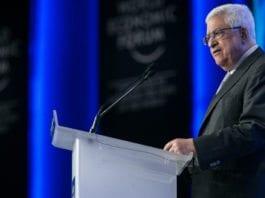 PA-president Mahmoud Abbas under en konferanse i World Economic Forum, våren 2013. (Foto: Benedikt von Loebell, WEF)