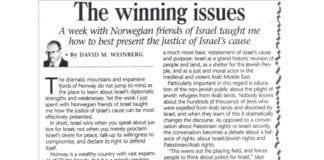 Faksmile av David M. Weinbergs artikkel i Jerusalem Post 7. juni 2013.