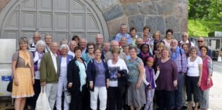 MIFF Drammen var på tur til synagogen i Bergstien, Jødisk Museum og HL-senteret på Bygdøy lørdag 1. juni. (Foto: Privat)