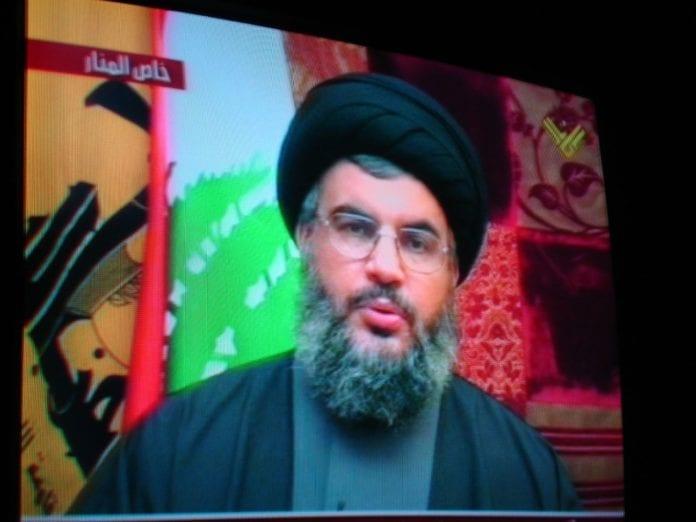 Hizbollah-leder Hassan Nasrallah holdt sin første fjernsynstale etter at organisasjonen ble terrorlistet av EU. (Foto: Zeinab Mohamed, flickr.com)