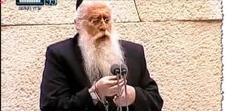 United Torah Judaism-representant Meir Porush (Foto: Skjermdump fra Knesset Channel)