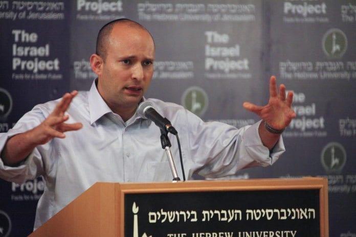 Bayit Yehudi-leder Naftali Bennett er en sterk kritiker av fredsprosessen. (Foto: Mati Milstein, The Israel Project)
