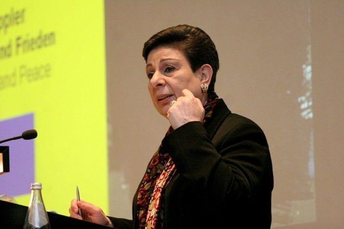 Veteranpolitiker i PA, Hanan Ashwari (Foto: Wikimedia Commons)