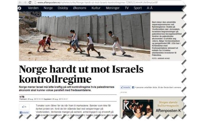 Skjermdump fra NTBs artikkel i Aftenposten.no 26. august 2013.