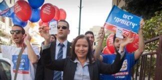 Ap-leder Shelly Yachimovich under valgkampen i 2013. (Illustrasjon: Shelly Yachimovich, Facebook.com)