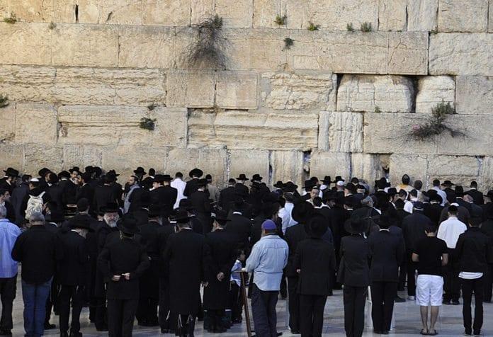 Ultra-ortodokse ved Vestmuren (Illustrasjon: Foucault in Exile, flickr.com)