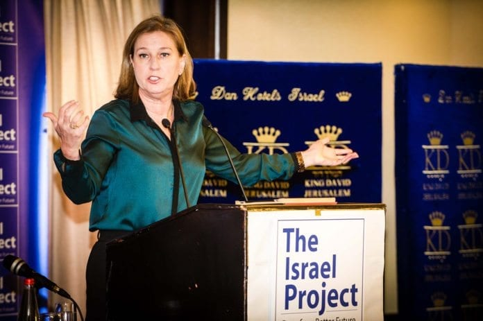 Justis- og diplomatiminister Tzipi Livni har sett seg lei av koalisjonspartneren Bayit Yehudi. (Foto: The Israel Project, flickr.com)