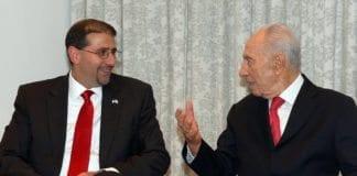USAs ambassadør Dan Shapiro (f.v.) og Israels president Shimon Peres. (Illustrasjon: USAs ambassade i Tel Aviv, flickr.com)