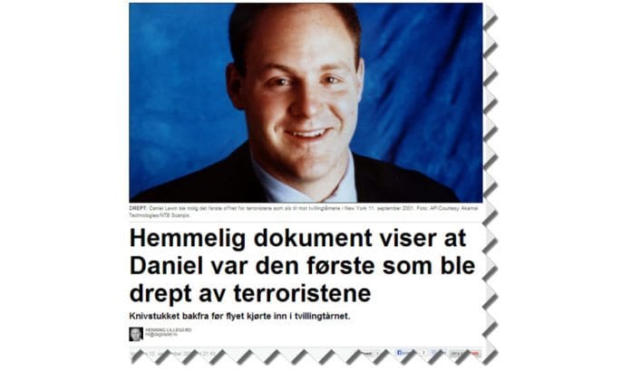 Skjermdump fra dagbladet.no 12. september 2013.