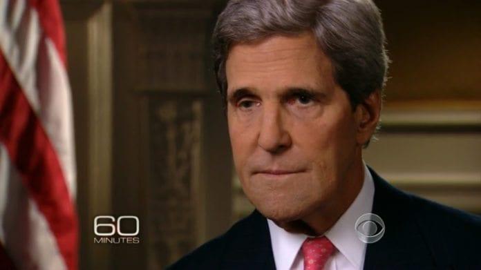 USAs utenriksminister John Kerry i intervju med