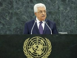 Mahmoud Abbas taler for FNs 68. generalforsamling, 26. september 2013. (Foto: Evan Schneider, UN Photo)
